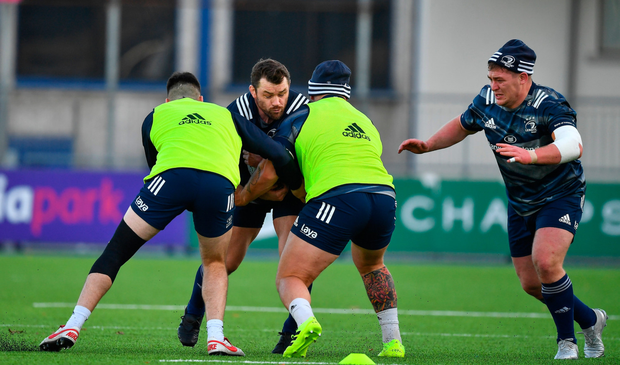 VETERAN: Cian Healy during Leinster squad training at Energia Park. Pic: Sportsfile