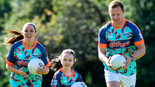 Dublin footballers Ciarán Kilkenny and Sinéad Goldrick with Siún Brophy, the one millionth child to register for the Kellogg's GAA Cúl Camps since the beginning of the Kellogg sponsorship in 2012. The 2020 GAA Cúl Camps began yesterday across the country.