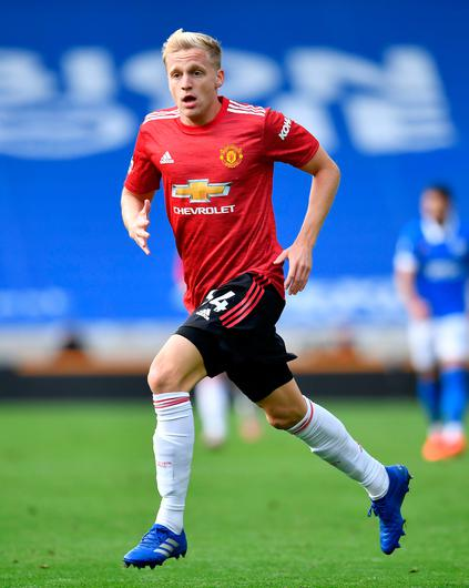 RARELY SEEN: Donny van de Beek has played little for United since his move during the summer