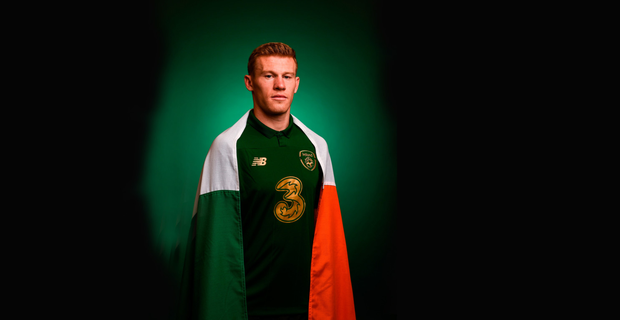 PROUD: James McClean poses for a portrait at the Republic of Ireland team hotel in Dublin. Pic: Sportsfile