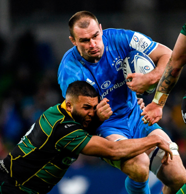 Rhys Ruddock in action for Leinster against Northampton Saints. Photo: Sportsfile