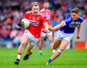 REBEL THREAT: Michael Hurley in action for Cork against Laois during the All-Ireland SFC qualifier at Semple Stadium. Pic: Sportsfile