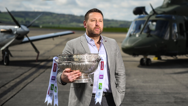 Cian O'Neill at the Leinster SFC launch. Photo: Sportsfile