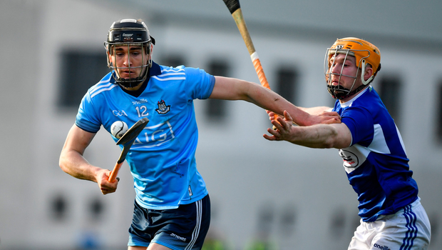 EYE ON THE BALL: Ronan Hayes of Dublin in action against Pádraig Delaney of Laois at Parnell Park. Pic: Sportsfile