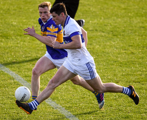 St Vincent's Diarmuid Connolly tries to outrun Castleknock's Tom Shields during last September's Dublin SFC1 quarter-final at Parnell Park