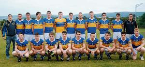 Castlenock -  Back row l-r: Rory Corcoran, Mikey Gavin, Stephen Byrne, Martin Brady, Evin Kennedy, Cian O'Hara, Stephen Lynch, Tommy Corcoran, Jamie Tunney, Kevin McConnell, Conor Prunty and Alex Griffith.  Front row l-r; Jack King, Kevin Kindlon, Colm Neville, Ian Quinn, Cian Spillane, David Sweeney, Paul Mulvihill, Des Carty and Tom Shields.  Adult Football League Division 3, Ballyboden St Enda's v Castlenock. Sancta Maria, Dublin. Picture: Caroline Quinn