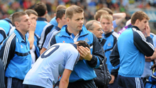 BITTER EXPERIENCE: Dublin manager Dessie Farrell comforts Cormac Costello after the All-Ireland MFC final defeat to Tipperary in September 2011