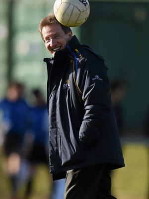 Then DCU manager Niall Moyna during the 2015 Sigerson Cup final against UCC in The Mardyke, Cork