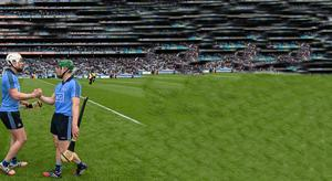 Liam Rushe at the final whistle