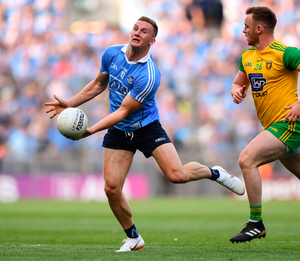 KEEP BALL: Dublin's Ciarán Kilkenny in action during last Saturday night's All-Ireland SFC quarter-final Group 2 Phase 1 clash