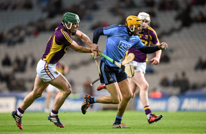 Dublin's Eamonn Dillion in action against Wexford when they counites last met in the Walsh Cup Final in Croke Park last Janurary. Photo: Stephen McCarthy/Sportsfile