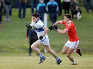 RETURN: Diarmuid Connolly (left) in action for St Vincent's against St Brigid's last week