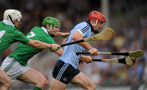 GOING FOR GOAL: Dublin's Ryan O'Dwyer is chased by Limerick's Séamus Hickey (c) and Tom Condon during the 2011 All-Ireland SHC quarter-final at Semple Stadium, Thurles, Tipperary. Photo: Ray McManus/SPORTSFILE