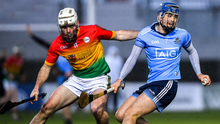The displays of Seán Moran, in action here against Carlow, have been a huge positive for Dublin