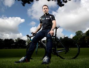 Galway hurler David Collins at the launch of the A Menarini 'Get Breathless for COPD' Cycle: INPHO/James Crombie