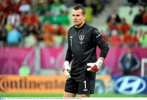 Aston Villa goalkeeper Shay Given. Picture credit: Pat Murphy / SPORTSFILE