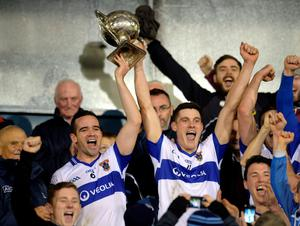 St Vincent's captain Ger Brennan and Diarmuid Connolly after winning the Dublin SFC in 2014