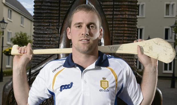 DETERMINED: Clare's Colin Ryan after a press event ahead of their All-Ireland SHC semi-final against Limerick tomorrow at Croke Park.