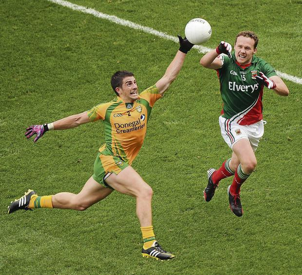 Mayo's Andy Moran in action. Picture: Daire Brennan/SPORTSFILE