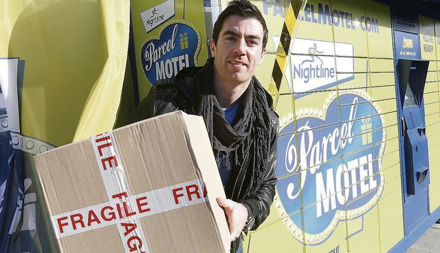 Dublin footballer Michael Darragh Macauley, pictured at the launch of Parcel Motel's send and return service. Pic. Robbie Reynolds