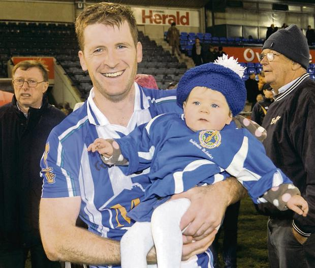 SOLID: Darragh Spain and daughter Olivia back in 2011 when Boden last triumphed. Spain is on Jonny Kenny's management team.