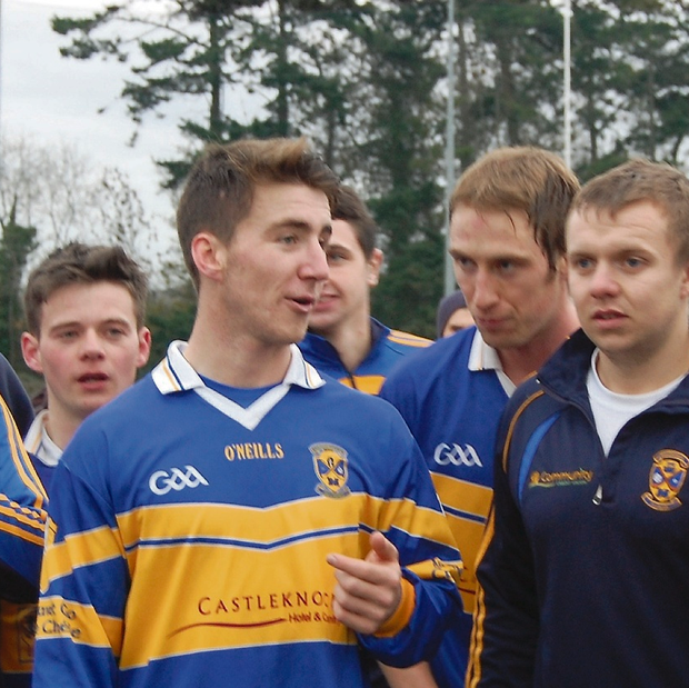 Castleknock players after their victory.