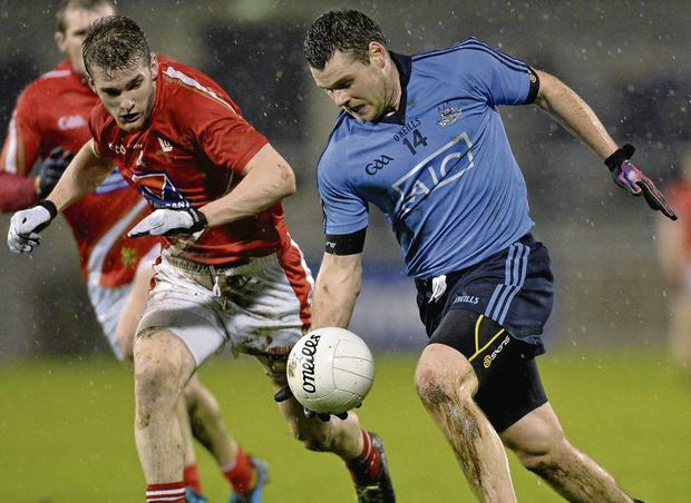 Dublin's Kevin McManamon in action against Louth's Keith McLoughlin. Picture credit: Matt Browne / SPORTSFILE