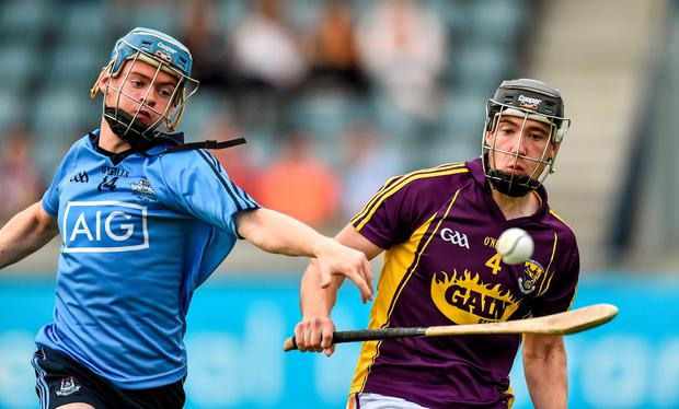 Oisin O'Rourke, Dublin, in action against Wexford. Picture: David Maher/Sportsfile.