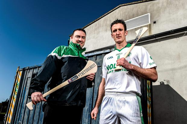 Ballyhale Shamrocks player Colin Fennelly, pictured with manager Andy Moloney