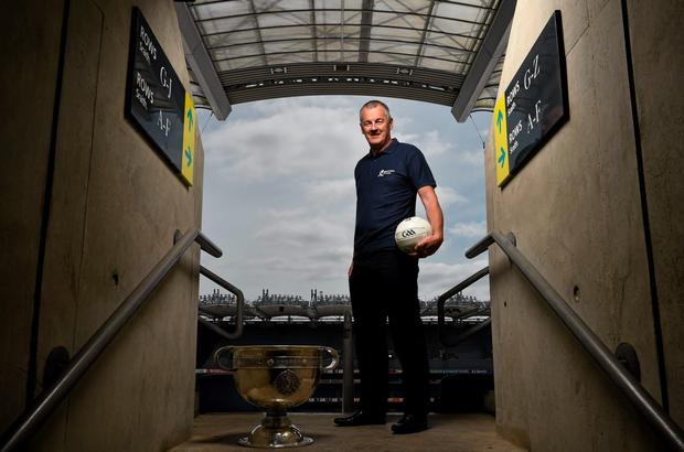 Pictured at the launch of the Bord Gáis Energy Legends Tour is former All-Ireland winning Dublin captain John O'Leary