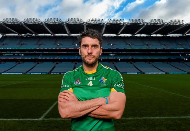 Ireland captain Bernard Brogan during the captain's call ahead of his side's EirGrid International Rules clash with Australia at Croke Park tonight