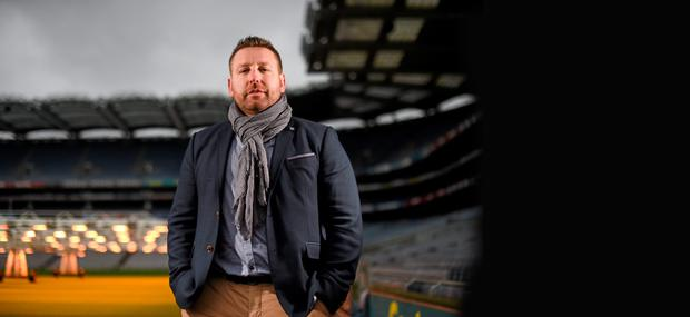Kildare football manager Cian O'Neill at the launch of the Bord na Móna Leinster GAA Series in Croke Park (Sportsfile)