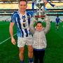 Ballyboden St Enda's Conal Keaney with his daughter Kate, age 7, celebrate Boden's AIB All-Ireland club SFC final victory over Castlebar Mitchels in Croke Park on St Patrick's Day. Pic: Stephen McCarthy/Sportsfile