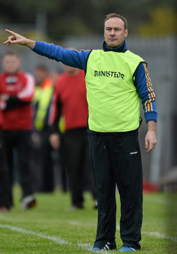 Curran on the sideline with Clann na nGael. Photo: Sportsfile