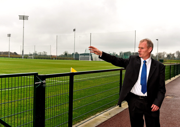 Derry Enright, venue manager, gives a tour of the facilities of the GAA National Games Development Centre at Abbotstown. Photo: Sportsfile