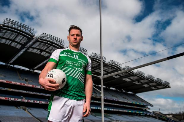 John West ambassadors including Dublin footballer Philly McMahon were in attendance to help launch the John West sponsorship of Féile competitions (SPORTSFILE)