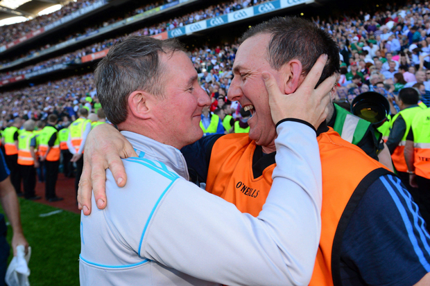 Dublin manager Jim Gavin and selector Mick Deegan. Photo: Sportsfile