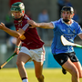 15 June 2016; Joe Rabbitte of Westmeath in action against Chris Bennett of Dublin during the Bord Gáis Energy Leinster GAA Hurling U21 Championship Semi-Final match between Westmeath and Dublin at Parnell Park in Dublin. Photo by Matt Browne/Sportsfile