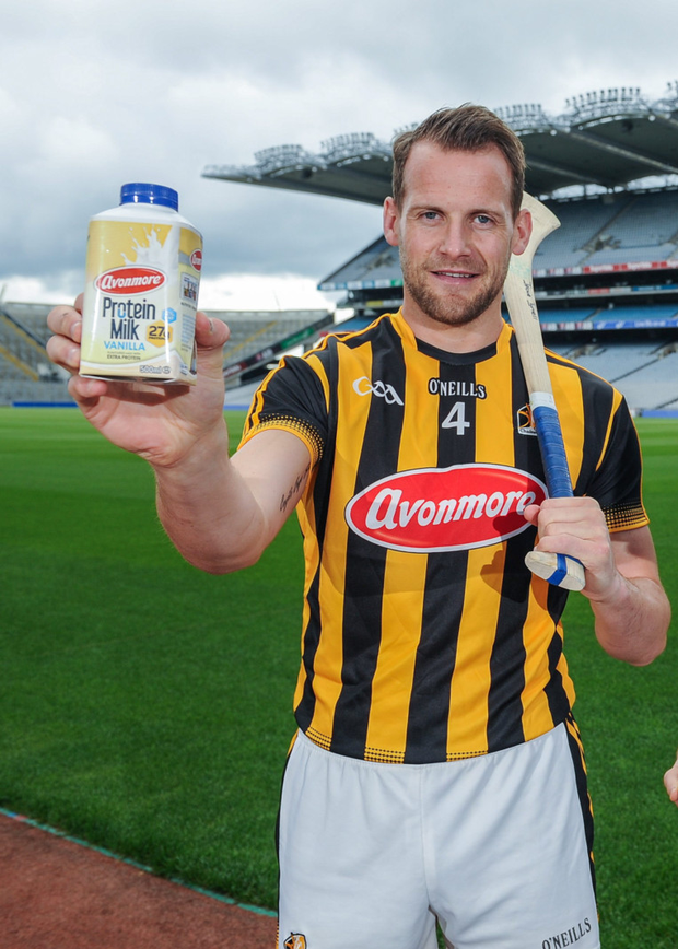 Kilkenny's Jackie Tyrrell at the recent GAA/GPA Avonmore Protein Milk launch. Picture credit: Sportsfile