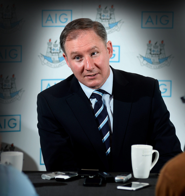 Dublin manager Jim Gavin speaks at the Gibson Hotel in Dublin yesterday. Picture Credit: Sportsfile