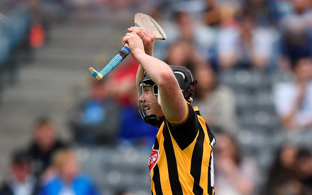 Walter Walsh reacts after scoring a late goal for Kilkenny during yesterday's All-Ireland SHC semi-final against Waterford at Croke Park Picture: Sportsfile