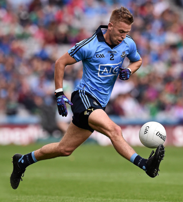 Jonny Cooper was happy with the performance of the Dublin defence against Donegal on Saturday. Pic: Sportsfile