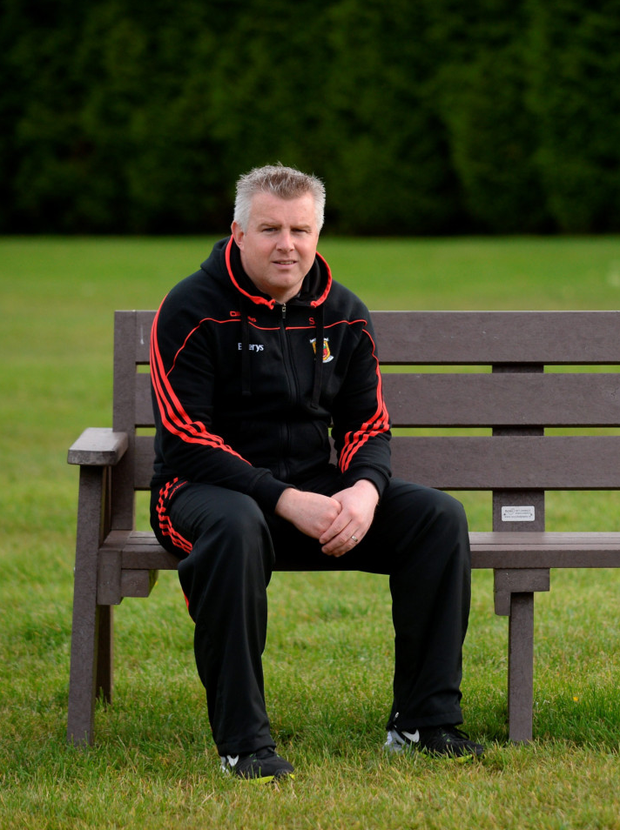 Mayo manager Stephen Rochford in relaxed mood. Pic: Sportsfile