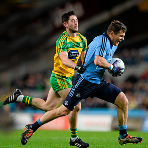Kevin McManamon, Dublin, in action against Ryan McHugh, Donegal. Photo: Sportsfile