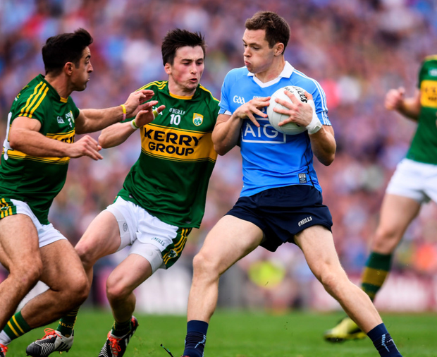 Dublin's Dean Rock maintains possession. Photo: Sportsfile