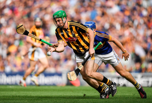 Kilkenny's Joey Holden gets the sliotar away. Pic: Sportsfile