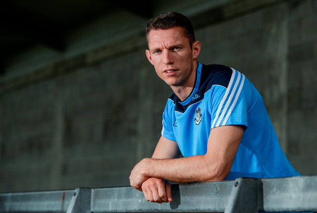 Darren Daly's focus is solely on Dublin's team performance ahead of Sunday's All-Ireland SFC final at Croke Park and (opposite page) in action against Ryan McHugh of Donegal. Photo: Sportsfile