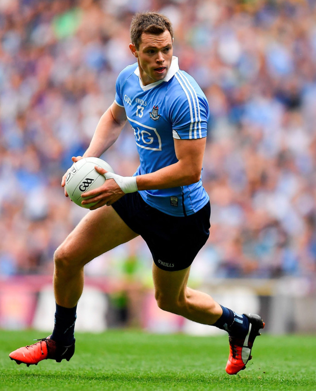 Dean Rock in action for Dublin during the All-Ireland SFC semi-final against Kerry at Croke Park. Photo: Brendan Moran/Sportsfile