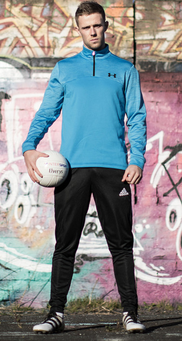 Elverys Intersport #BringTheColour Campaign Ambassador Paul Mannion at St Vincent's GAA Club. #BringTheColour is a campaign aimed at celebrating the individuality of players who are not afraid to stand out on the pitch through their performances and also through their vibrant selection of boot styles and colours