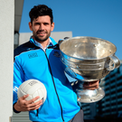 Dublin's Cian O'Sullivan with the Sam Maguire cup.